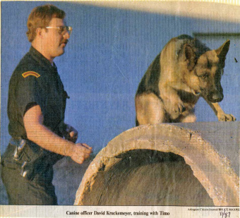 Police officer with police dog