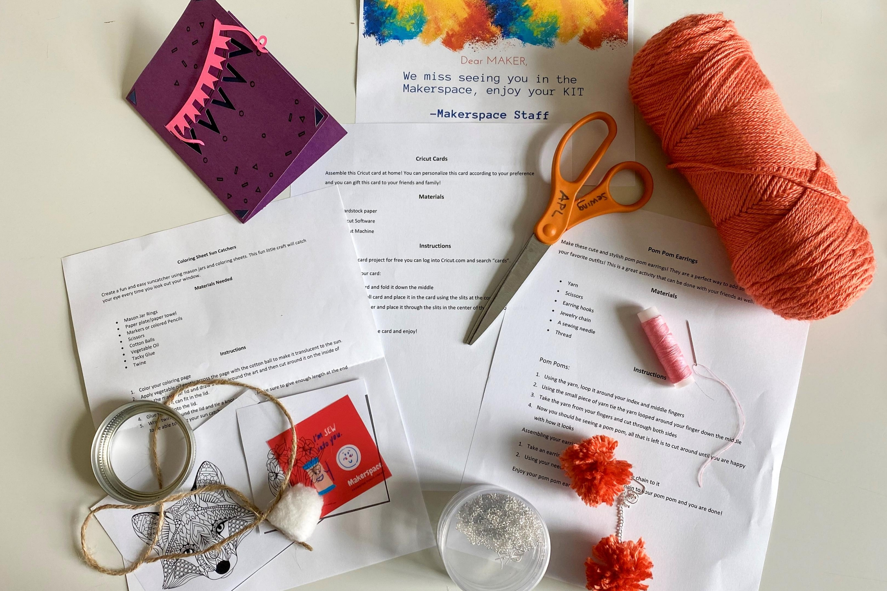 Free Makerspace Activity Kits throughout August 2020